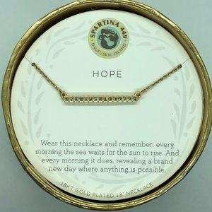SLV Hope Bar Necklace